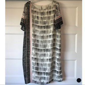 Brush Stroke Shift Dress